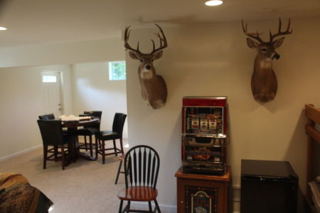 Whitetail Deer Hunting Cabin Basement