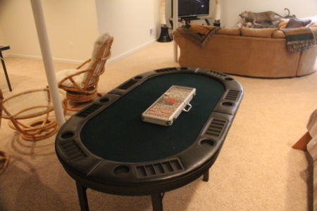 Whitetail Deer Hunting Cabin Poker Table