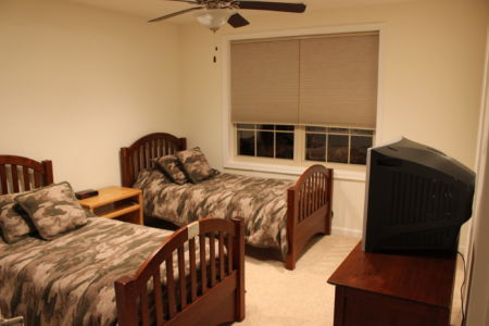 Whitetail Deer Hunting Cabin Bedroom
